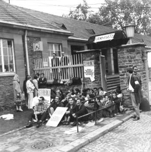 Sitzstreik an der Johannes Gutenberg-Universität Mainz 1968, Quelle Universitätsarchiv